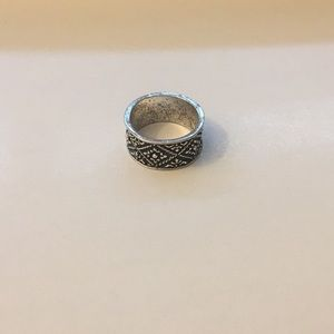 Bohemian Thick Silver Plated Ring